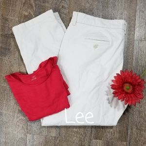 LEE AT THE WAIST KHAKI PANTS, SIZE 16W